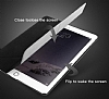 Baseus Simplism Y-Type iPad 9.7 Standlı Lacivert Deri Kılıf - Resim 2