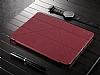 Baseus Simplism Y-Type iPad 9.7 Standlı Bordo Deri Kılıf - Resim 1