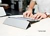 Baseus Simplism Y-Type iPad 10.5 Standlı Lacivert Deri Kılıf - Resim 8