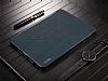 Baseus Simplism Y-Type iPad 10.5 Standlı Lacivert Deri Kılıf - Resim 1