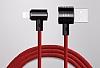 Baseus T-Type 2 in 1 Kırmızı Data Kablosu 1,20m - Resim 2