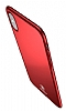 Baseus Thin iPhone X Tam Kenar Kırmızı Rubber Kılıf - Resim 11