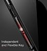 Baseus Thin iPhone X Tam Kenar Kırmızı Rubber Kılıf - Resim 6