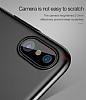 Baseus Thin iPhone X Tam Kenar Kırmızı Rubber Kılıf - Resim 3