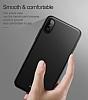 Baseus Thin iPhone X Tam Kenar Siyah Rubber Kılıf - Resim 2