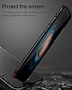 Baseus Thin iPhone X Tam Kenar Siyah Rubber Kılıf - Resim 7