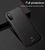 Baseus Thin iPhone X Tam Kenar Kırmızı Rubber Kılıf - Resim 4