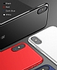 Baseus Thin iPhone X Tam Kenar Kırmızı Rubber Kılıf - Resim 9
