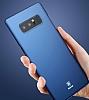 Baseus Thin Samsung Galaxy Note 8 Tam Kenar Siyah Rubber Kılıf - Resim 2