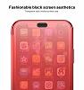 Baseus Touchable iPhone X İnce Kapaklı Kırmızı Kılıf - Resim 1