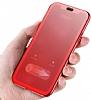 Baseus Touchable iPhone X İnce Kapaklı Kırmızı Kılıf - Resim 3