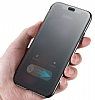 Baseus Touchable iPhone X İnce Kapaklı Siyah Kılıf - Resim 5
