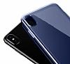 Baseus Simple iPhone X Kırmızı Silikon Kılıf - Resim 3