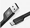 Baseus USB Type-C Kırılmayan Dayanıklı Kırmızı Data Kablosu 1m - Resim 3