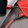 Baseus USB Type-C Kırılmayan Dayanıklı Kırmızı Data Kablosu 1m - Resim 1