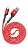 Baseus USB Type-C Kırılmayan Dayanıklı Kırmızı Data Kablosu 1m - Resim 2