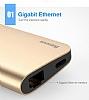 Baseus Type-C Multi Fonksiyonel Gold Dönüştürücü Adaptör - Resim 3
