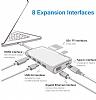Baseus Type-C Multi Fonksiyonel Gold Dönüştürücü Adaptör - Resim 11
