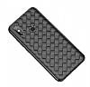 Baseus Weaving Xiaomi Mi 8 Siyah Silikon Kılıf - Resim 2
