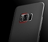 Baseus Wing Samsung Galaxy S8 Plus Ultra İnce Şeffaf Siyah Rubber Kılıf - Resim 8