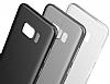 Baseus Wing Samsung Galaxy S8 Plus Ultra İnce Şeffaf Siyah Rubber Kılıf - Resim 9