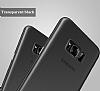 Baseus Wing Samsung Galaxy S8 Plus Ultra İnce Şeffaf Siyah Rubber Kılıf - Resim 4
