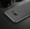 Baseus Wing Samsung Galaxy S8 Plus Ultra İnce Şeffaf Siyah Rubber Kılıf - Resim 3