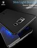 Baseus Wing Samsung Galaxy S8 Plus Ultra İnce Şeffaf Siyah Rubber Kılıf - Resim 6