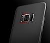 Baseus Wing Samsung Galaxy S8 Ultra İnce Siyah Rubber Kılıf - Resim 8