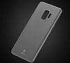 Baseus Wing Samsung Galaxy S9 Plus Ultra İnce Şeffaf Beyaz Rubber Kılıf - Resim 1
