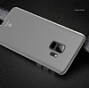 Baseus Wing Samsung Galaxy S9 Plus Ultra İnce Şeffaf Beyaz Rubber Kılıf - Resim 2