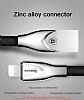 Baseus Zinc Alloy Lightning Dayanaklı Kırmızı Data Kablosu 1m - Resim 4