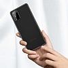 Benks Lollipop Samsung Galaxy S20 Siyah Ultra İnce Rubber Kılıf - Resim 3