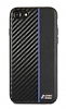 BMW iPhone 6 / 6S / 7 / 8 Mavi Çizgili Karbon Rubber Kılıf - Resim 1