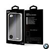 BMW iPhone 6 Plus / 6S Plus / 7 Plus / 8 Plus Kırmızı Çizgili Karbon Rubber Kılıf - Resim 1