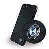BMW iPhone 7 / 8 Karbon Silikon Kılıf - Resim 3