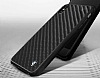 BMW iPhone X Karbon Siyah Silikon Kılıf - Resim 1