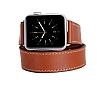 Bouletta Apple Watch Gerçek Deri Çift Tur Kordon RST2 (42 mm) - Resim 4