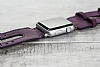 Bouletta Apple Watch Gerçek Deri Mor Kordon G7 (42 mm) - Resim 2