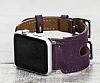 Bouletta Apple Watch Gerçek Deri Mor Kordon G7 (38 mm) - Resim 6