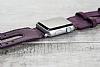 Bouletta Apple Watch Gerçek Deri Mor Kordon G7 (38 mm) - Resim 2