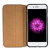 Bouletta Book Klug iPhone 7 Plus / 8 Plus Standlı Kapaklı Floater Tan Gerçek Deri Kılıf - Resim 3