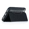 Bouletta Book Klug iPhone 7 Plus / 8 Plus Standlı Kapaklı Floater Black Gerçek Deri Kılıf - Resim 2