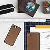 Bouletta Flex Cover iPhone 7 Plus / 8 Plus Floater Tan Gerçek Deri Kılıf - Resim 1