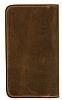 Burkley Leony Universal Kapaklı Cüzdanlı Kahverengi Kılıf - Resim 4