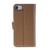 Bouletta Magic Wallet iPhone 7 Standlı Kapaklı Floater Tan Gerçek Deri Kılıf - Resim 3