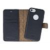 Bouletta Magic Wallet iPhone 7 Standlı Kapaklı Floater Black Gerçek Deri Kılıf - Resim 3