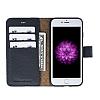 Bouletta Magic Wallet iPhone 7 Standlı Kapaklı Floater Black Gerçek Deri Kılıf - Resim 2