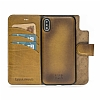 Bouletta Magic Wallet iPhone X / XS V5EF Kahverengi Gerçek Deri Kılıf - Resim 1
