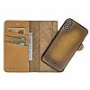 Bouletta Magic Wallet iPhone X / XS V5EF Kahverengi Gerçek Deri Kılıf - Resim 4